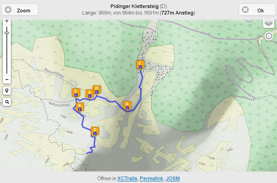 Klettersteig Karte : Neue karte für klettersteige xctrails